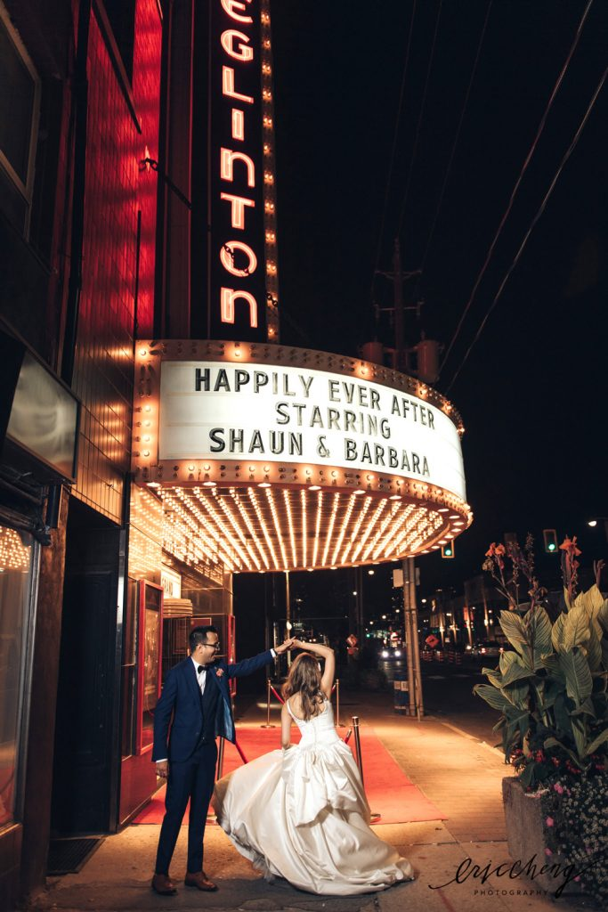 Eglinton-Grand-Theatre-Toronto-GTA-Wedding-Venue-Bride-Groom-Marquee-Vintage-Art-Deco-Event